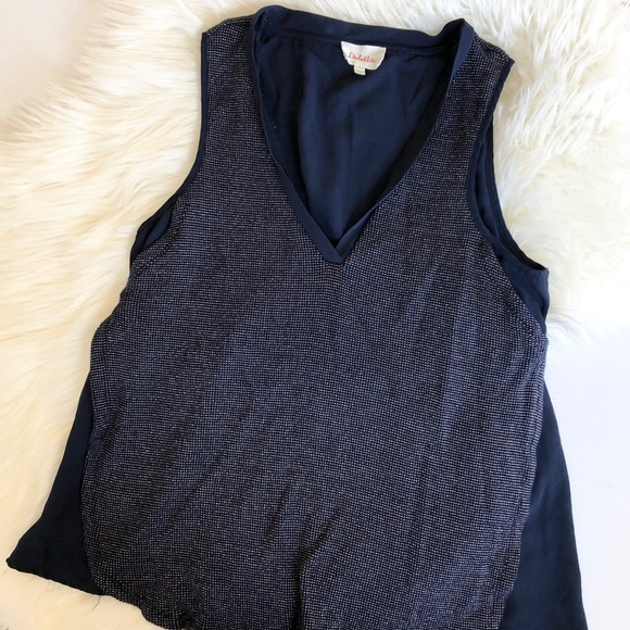 Anthropologie Tops - Deletta Anthropology layered navy tank